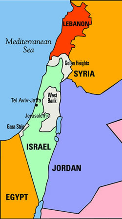 Image result for map of israel and palestine today